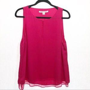 Diane Von Furstenberg silk hot pink size large top